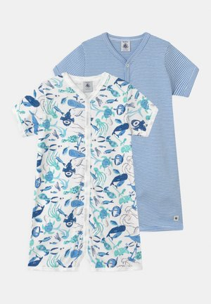 COMBICOURTS 2 PACK - Pyjamas - white/blue