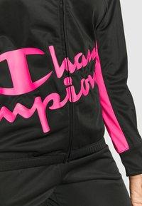 Champion - FULL ZIP SUIT - Treningsdress - black - 5