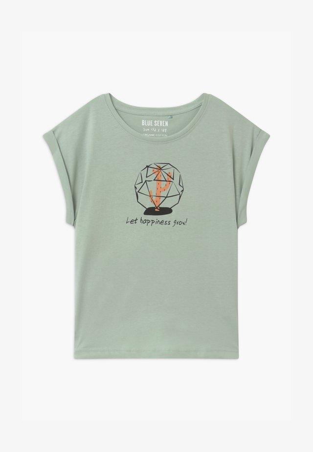 TEEN GIRL LOVE WILD PLANTS - T-shirt print - gletscher