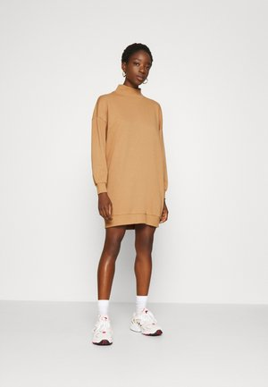 ONLVINA HIGHNECK DRESS - Day dress - burro