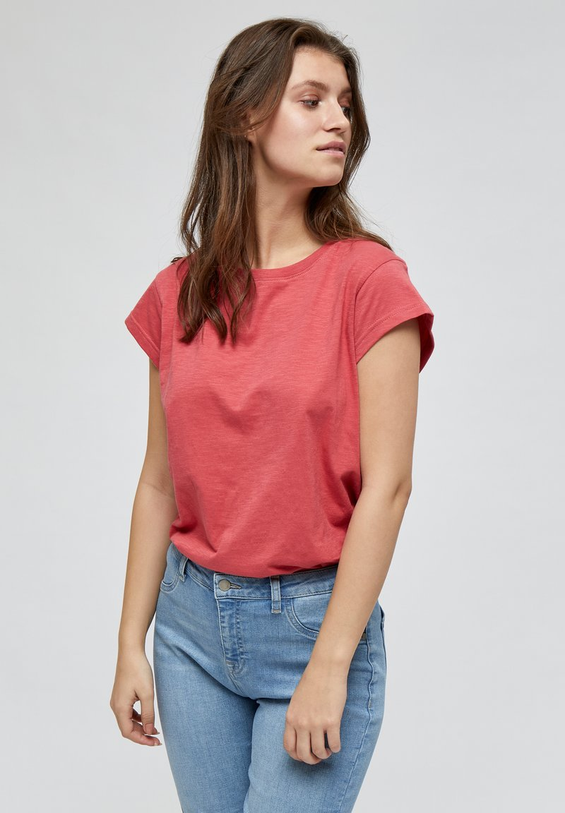 Minus - LETI - Basic T-shirt - pink lemonade