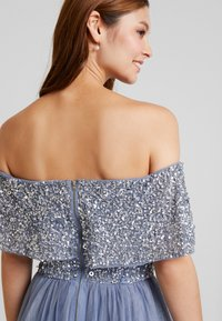 Maya Deluxe - OVERSIZED BARDOT HIGH LOW DRESS - Occasion wear - dusty blue - 6