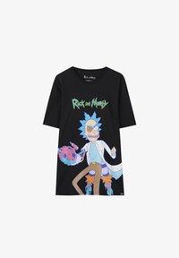 PULL&BEAR - RICK & MORTY - T-shirt con stampa - mottled dark grey - 6