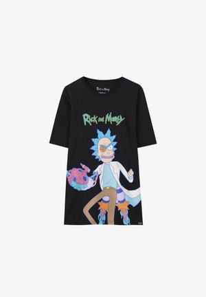RICK & MORTY - T-shirt con stampa - mottled dark grey