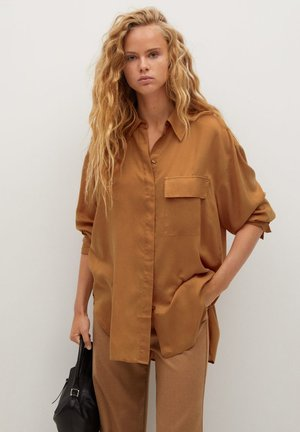SAL - Button-down blouse - hnědá