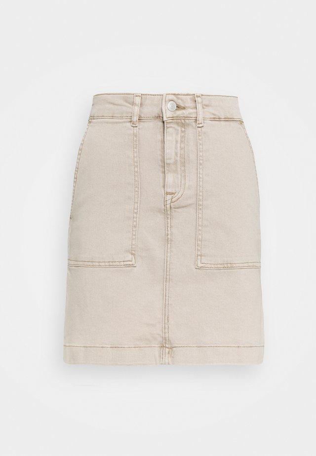 SLFBELLA SKIRT  - Denim skirt - sand