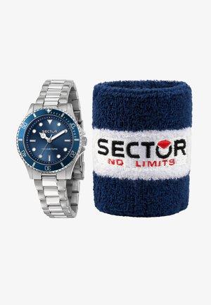 Horloge - silber blau