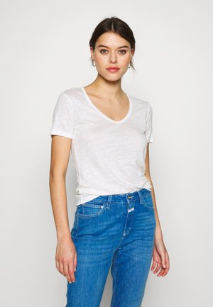 WOMEN - Basic T-shirt - ivory
