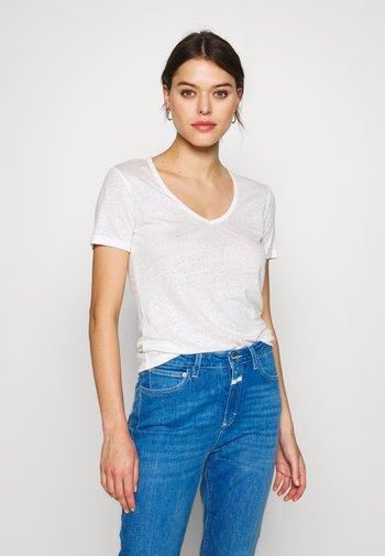 WOMEN - Basic T-shirt - ivory