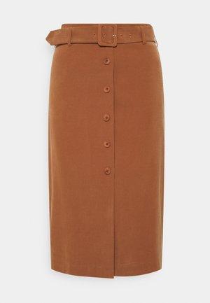 SKIRT - Pouzdrová sukně - toffee