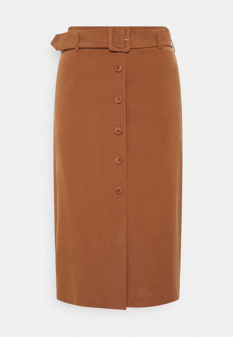 Esprit Collection - SKIRT - Pencil skirt - toffee
