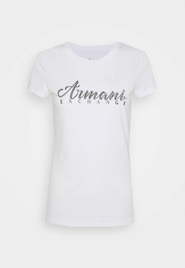 T-shirt con stampa - optic white