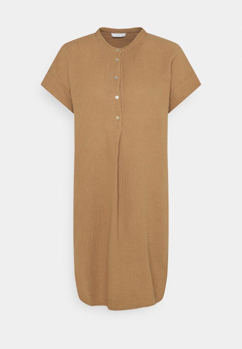 by-bar - OTTY DRESS - Shirt dress - coffee