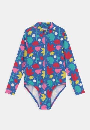 RUNA SWIMSUIT FLORAL - Swimsuit - blue