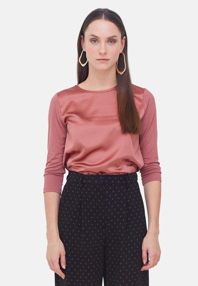 IN DUE TESSUTI - Long sleeved top - rosa