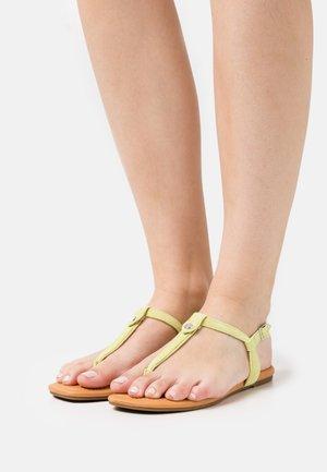 MADEENA - T-bar sandals - pollen