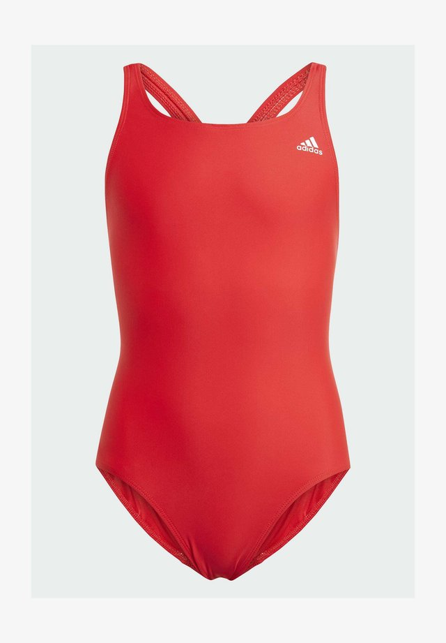 SOLID FITNESS SWIMSUIT - Badpak - red