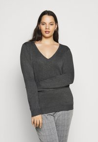 Anna Field Curvy - Jumper - dark grey mélange - 0
