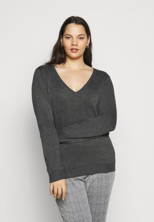Jumper - dark grey mélange