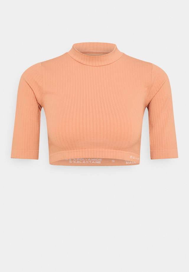 CROPPED  - T-shirt imprimé - light pink