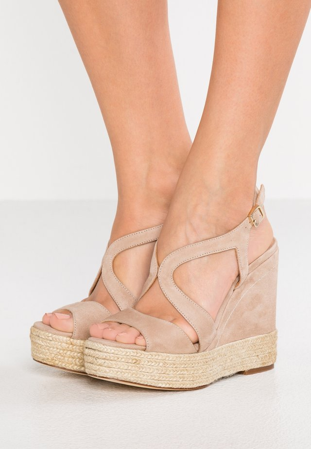 TELMA - High heeled sandals - taupe
