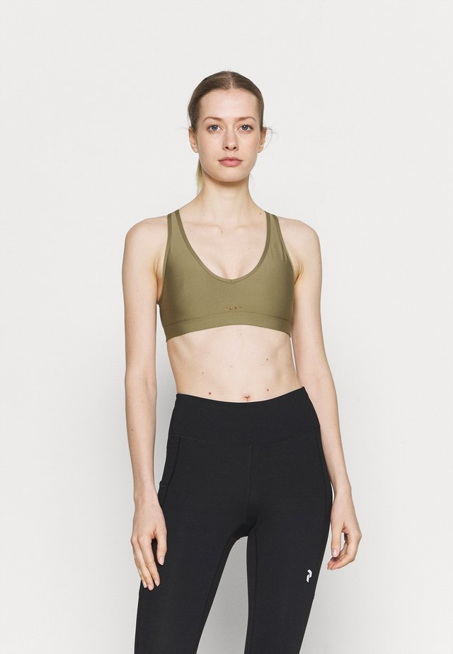 HEROS  - Medium support sports bra - covert green