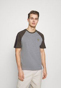 Lyle & Scott - COLOUR BLOCK - T-shirt - bas - mid grey marl - 0