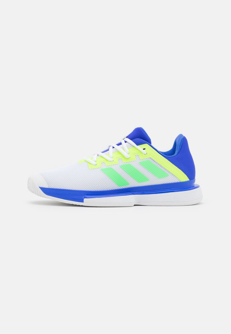 adidas Performance - SOLEMATCH BOUNCE - Tenisové boty na všechny povrchy - sonic ink/screaming green/signal green