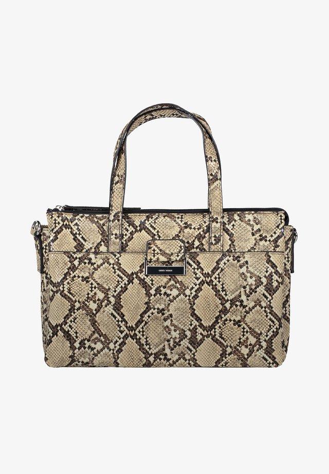 TASCHE TALK DIFFERENT SNAKE - Handbag - beige