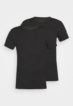 DOUBLE PACKCREW NECK 2 PACK - T-shirt basique - black
