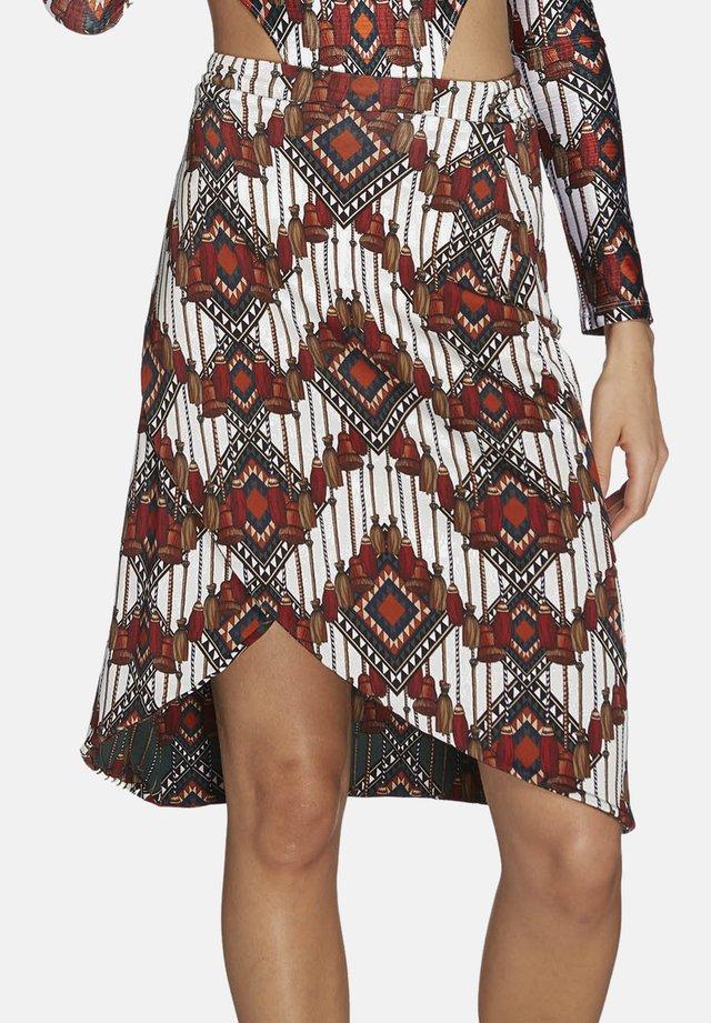NÔMADE,REVERSIBLE - Wrap skirt - blanc/vert