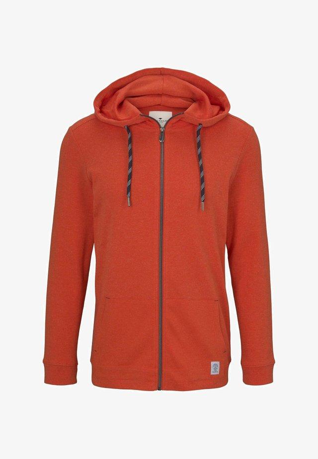 EASY JERSEY JACKET - Zip-up hoodie - red mocktwist