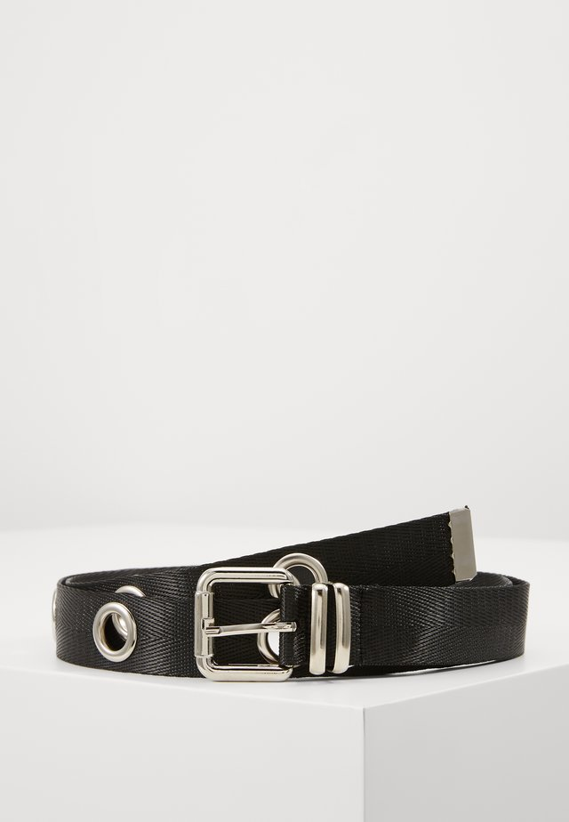 XL EYELET DETAIL BELT - Riem - black
