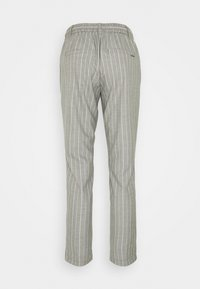 comma casual identity - LANG - Trousers - grey melange - 1