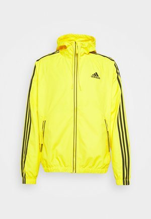 BASIC 3 STRIPES WINDBREAKER - Giacca outdoor - yellow
