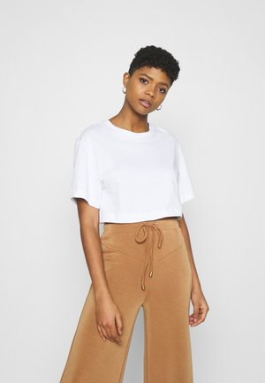 CROP VOLUME  - Basic T-shirt - white