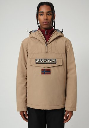 RAINFOREST WINTER - Waterproof jacket - beige portabel