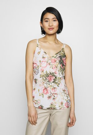 FLORAL PRINTED SEQUIN CAMI - Blouse - blush