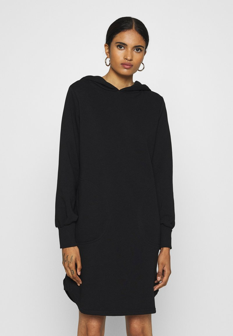 ONLY - ONLELVIRA HOOD DRESS - Day dress - black