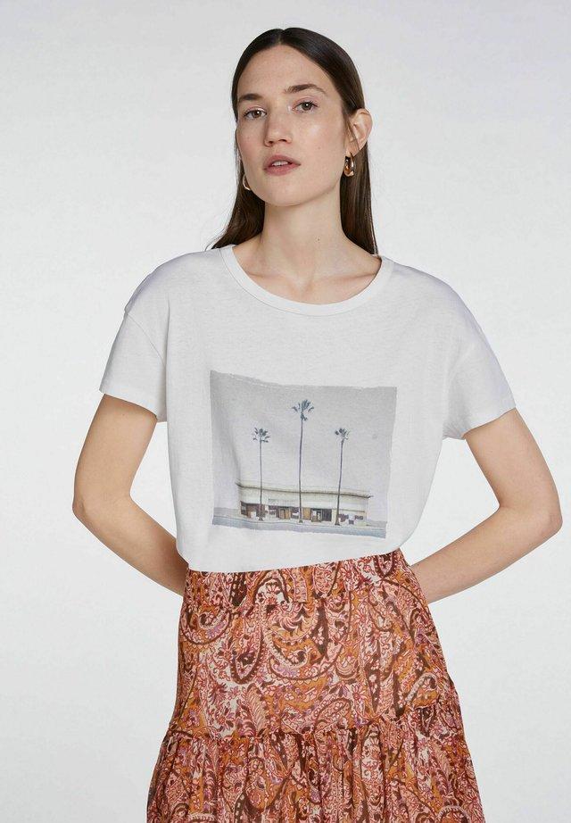 Print T-shirt - woolwhite