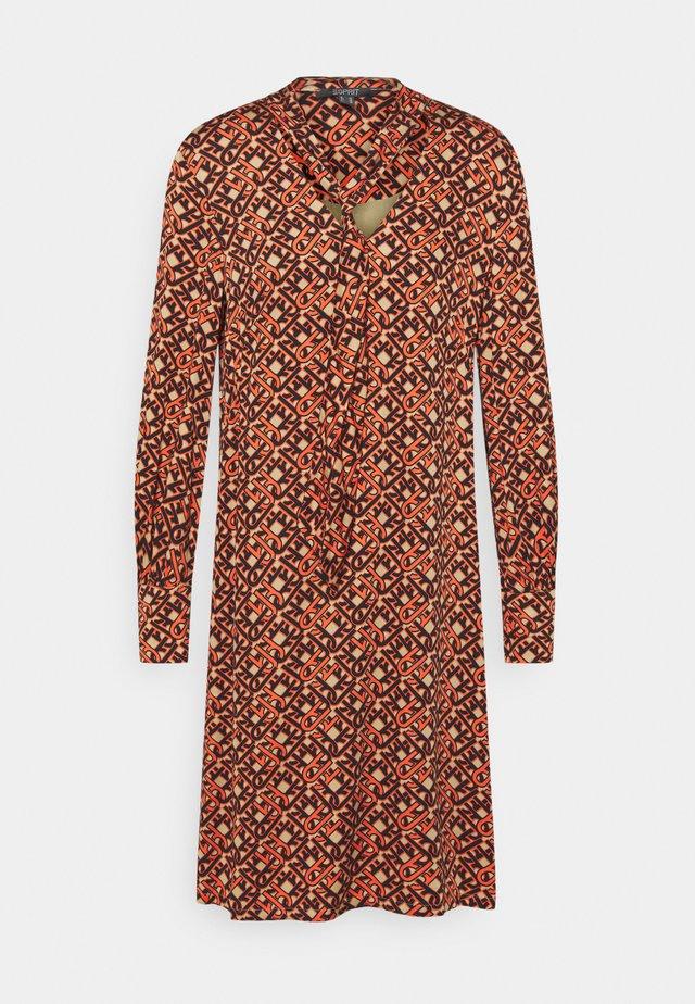 DRESS - Day dress - camel