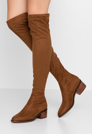 GEORGETTE - Overknee laarzen - brown