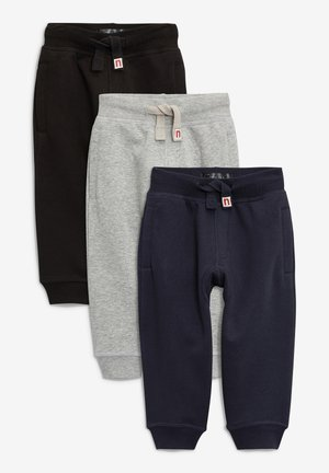 ESSENTIAL JOGGERS 3 PACK - Pantalon de survêtement - black