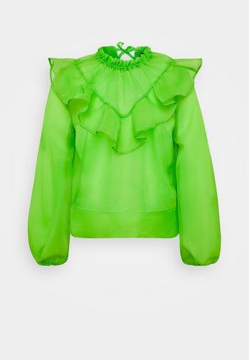 RUFFLE YOKE - Bluser - jasmine green