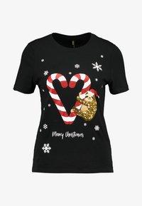 ONLY - ONLCHRISTMAS BLING BOX - T-shirts print - black - 3
