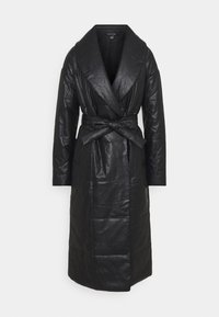 Who What Wear - BELTED PUFFER COAT - Classic coat - black - 4