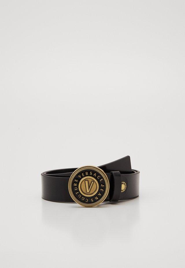 NEW LOGO ROUND BUCKLE - Waist belt - nero/oro