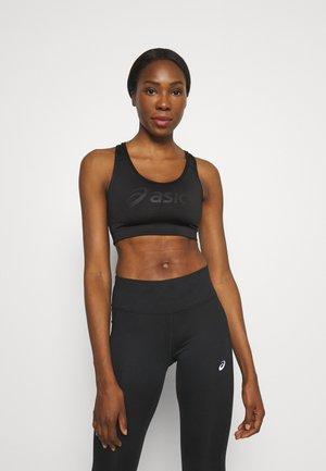 LOGO BRA - Medium support sports bra - performance black/performance black