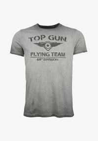 TOP GUN - MIT TOP GUN LOGO EASE - Print T-shirt - grey - 0