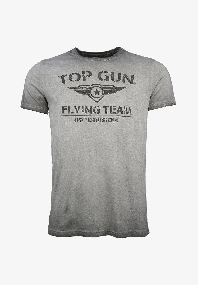 TOP GUN - MIT TOP GUN LOGO EASE - Print T-shirt - grey